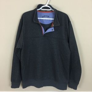ORVIS Pullover Shirt in size L Charcoal gray
